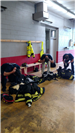 Training at fire station with response time