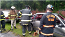 Training with car wreck and power tools
