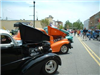 Black and orange vintage cars