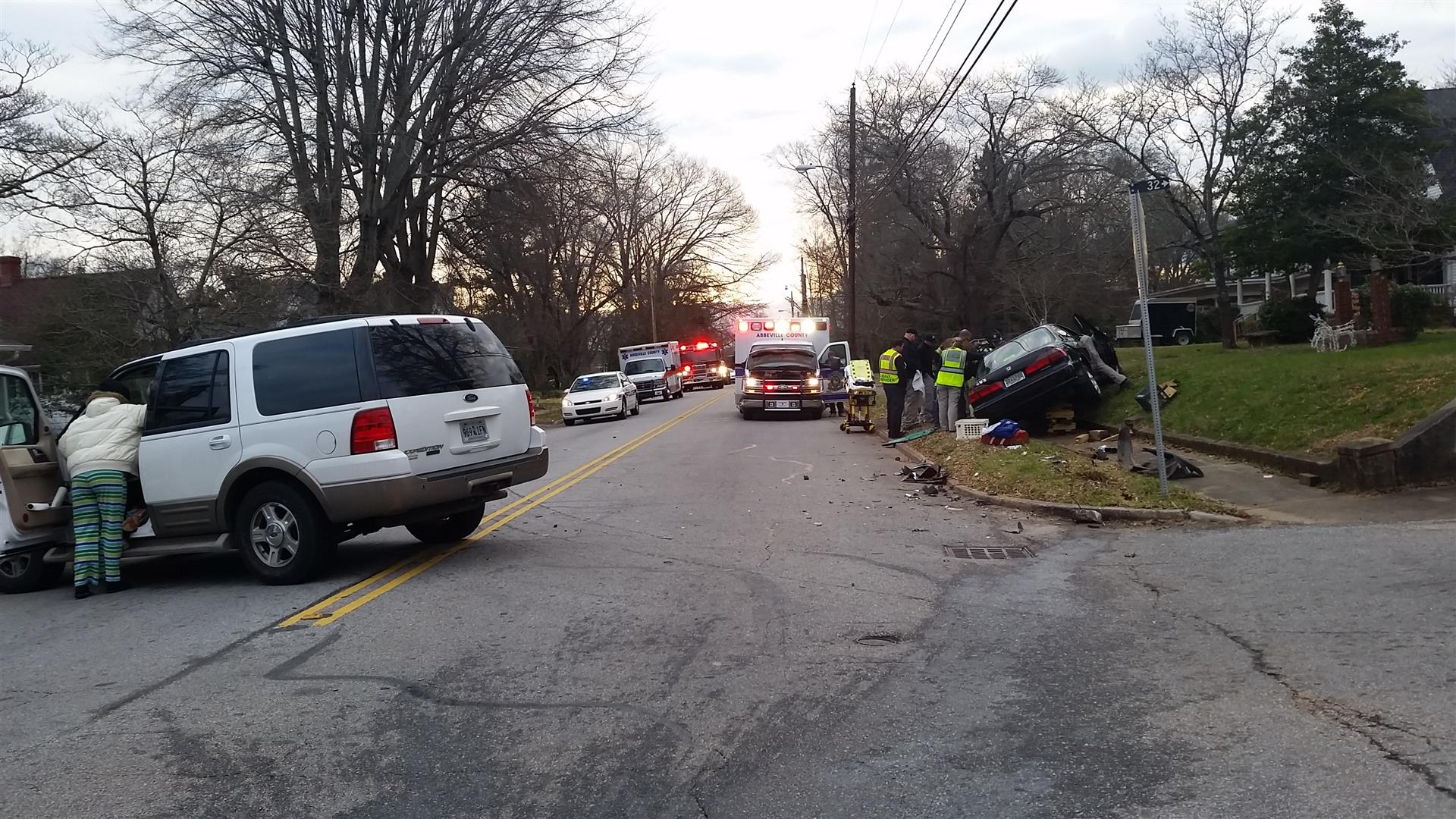 Firefighters respond to car crash