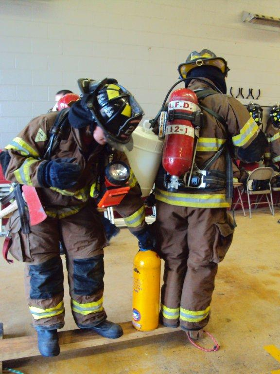 Training with fire extinguishers