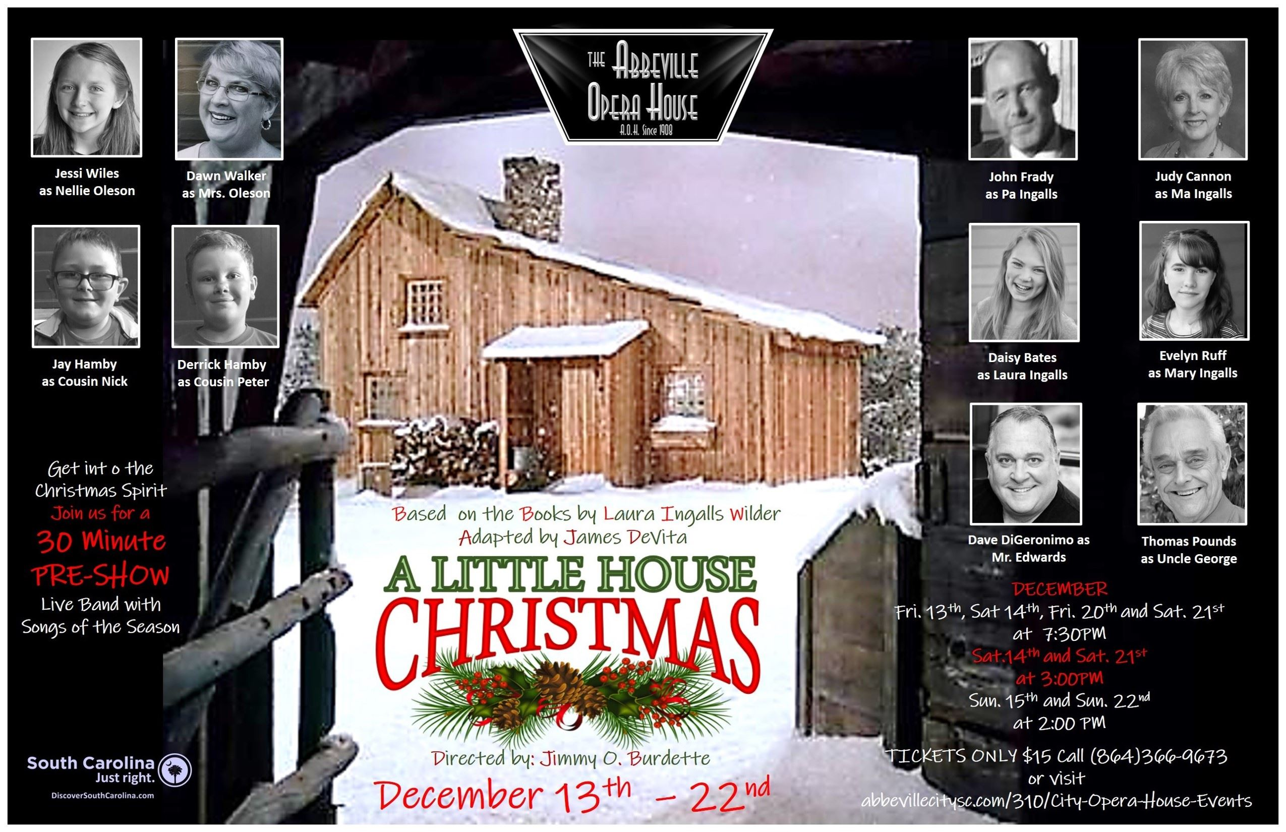 BWW Interview: Dave DiGeronimo of A LITTLE HOUSE CHRISTMAS at Abbeville Opera House
